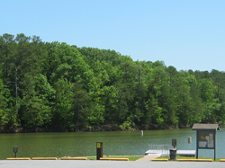 The Clark Creek South day use area and Lake Allatoona