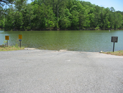 The Clark Creek South Boat Launch on Lake Allatoona