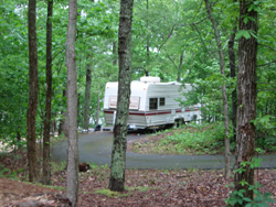a Lake Allatoona campsite